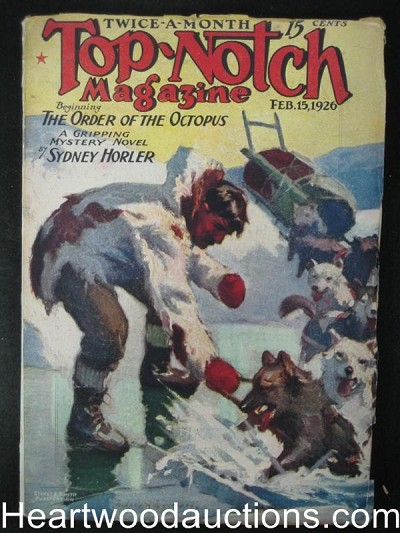 Top-Notch February 1926 High Grade Alaskan Dogsled Cvr, WW Cook