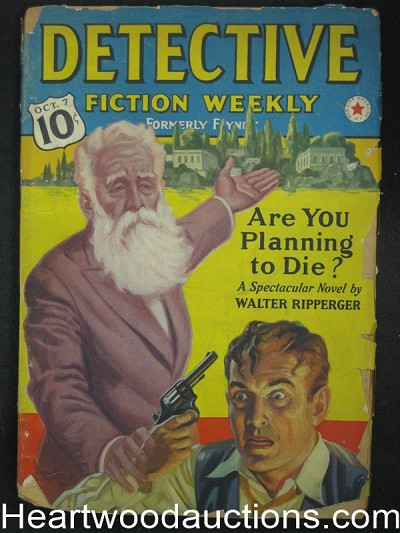 Detective Fiction Weekly October 7 1939 Cyril Plunkett, Zagat,