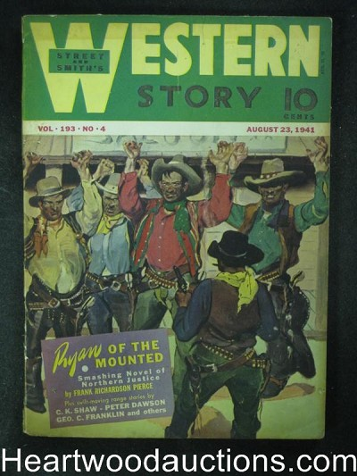 Western Story Aug 23 1941  Ryan of the Mounted