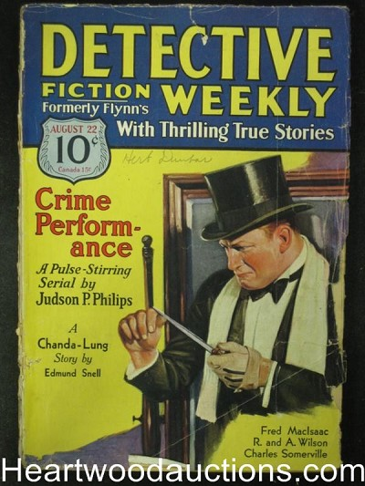 Detective Fiction Aug 22, 1931   Judson Phillips Cover Story
