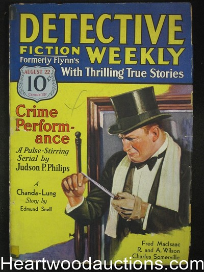 Detective Fiction Weekly Aug 22, 1931 Judson Phillips Cover Story