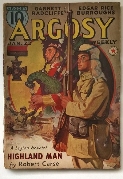 Argosy Jan 1938 Edgar Rice Burroughs Carson of Venus 3/6
