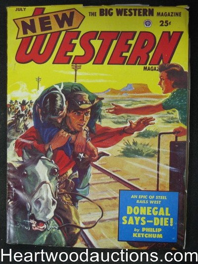 New Western Jul 1953 Donegal Says Die!- Ultra High Grade