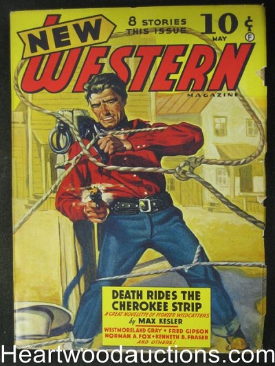 New Western May 1942 Death Rides the Cherokee Strip- High Grade