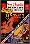 Two Complete Detective Books Sep 1943 George Gross GGA/Cleavage Skeleton Cvr - High Grade