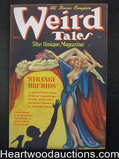 Weird Tales Mar 1937 Brundage Cover, Bloch, Binder, Wellman