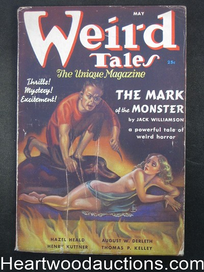 Weird Tales May 1937 Lovecraft, Jack Williamson Cover story