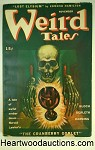 Weird Tales Nov 1945 Skull Cover by Coye, Derleth, Bloch