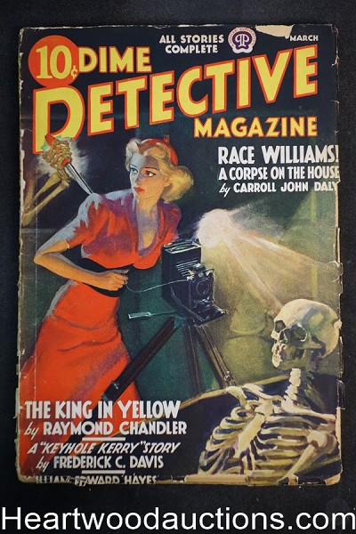 Dime Detective Mar 1938 Raymond Chandler, Carroll John Daly- Race Williams