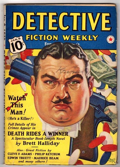 "Detective Fiction Weekly"" Jan 6 1940 Brett Halliday, Philip Ketchum"