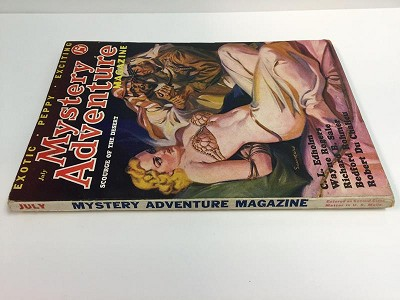 Mystery Adventure Magazine July 1936 Saunders Bondage - High Grade Scourge of the Desert