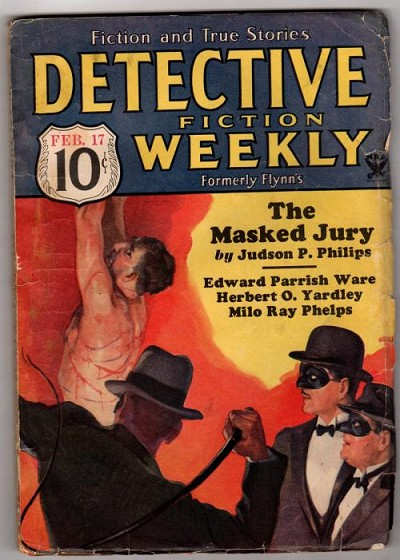 Detective Fiction Weekly Feb 17 1934 Wild Whipping Cover