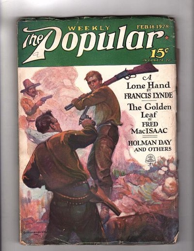 Popular Magazine Feb 18 1928  Frank E. Schnoover Cvr