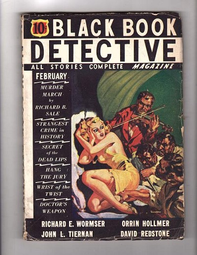 Black Book Detective  Feb 1936  Wild Saunders GGA/Horror Cvr