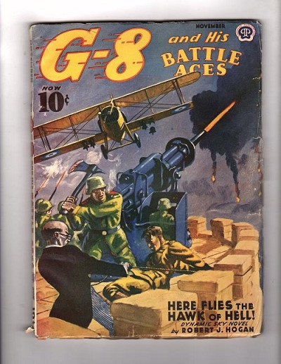 G 8 Battle Aces Nov 1940 Here Flies the Hawk of Hell!