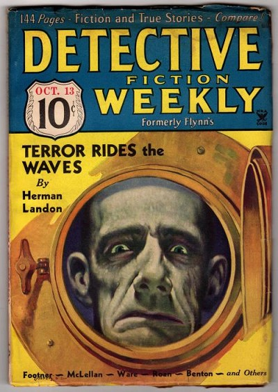 Detective Fiction Weekly Oct 13,1934 First David Goodis story; H. Landon Cvr story