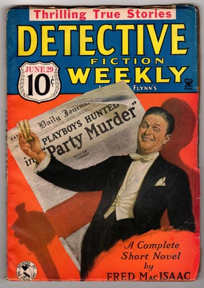 "Detective Fiction Weekly Jun 29, 1935 Fred MacIsaac ""The Party Murder"""