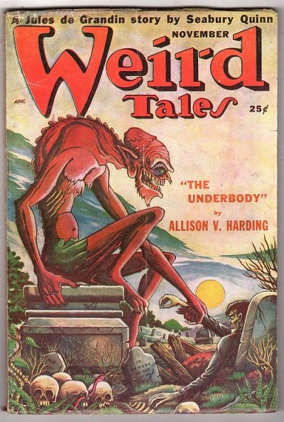 Weird Tales Nov 1949 Matt Fox Cvr; Allison V. Harding; Quinn; Derleth; Burks