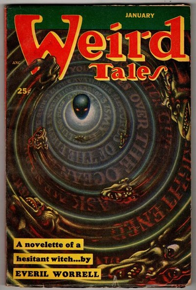 Weird Tales Jan 1953 Kelly Freas Cvr; August Derleth; Everil Worrell