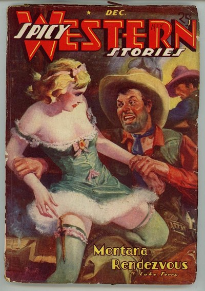 Spicy Western Dec 1938 GGA Cover Art by Parkhurst