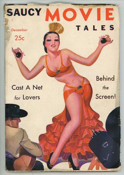 Saucy Movie Tales Dec 1937 Belly Dancer GGA Cover Art