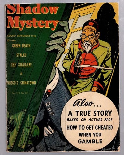 Shadow Mystery Aug 1948 Oriental Menace cover art by Powell