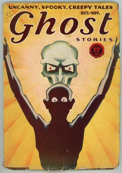 Ghost Stories Oct-Nov 1931 Skull Cover Art by Stuart Leach