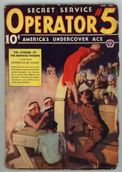 Operator #5 Jan-Feb 1938 Classic GGA Torture/Bondage Cover Art;