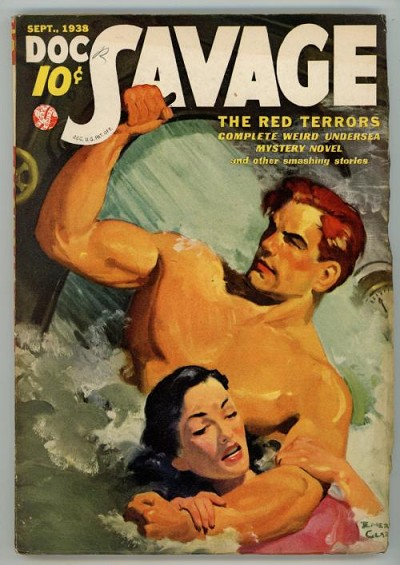 Doc Savage Sep 1938 Damsel in Distress Cover Art;