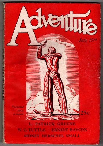 Adventure Jul 15 1927 Rockwell Kent Wood-Cut Cover Series #10 of 11