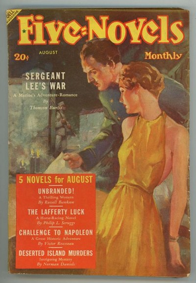 Five Novels Monthly Aug 1938 GG Cover Art; Victor Rousseau