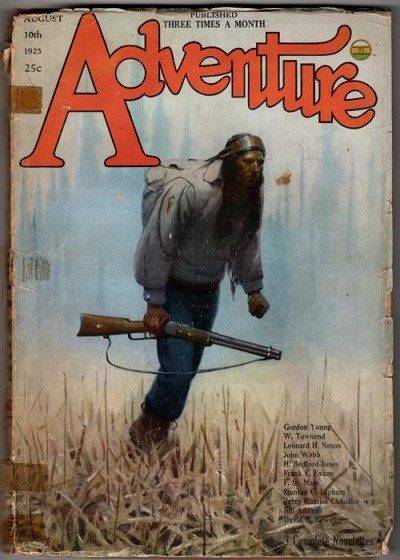 Adventure Aug 10 1925 G. C. Delano Cvr; Leonard Nason; Gordon Young; H. B. Jones