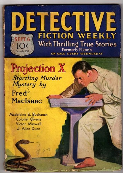 Detective Fiction Weekly Sep 6 1930; Fred MacIsaac cvr story; M.S. Buchanan