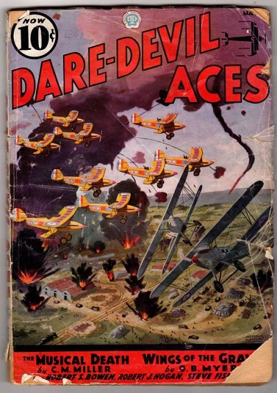 Daredevil Aces May 1936; C.M. Miller; Robert Sidney Bowen; William Hartley;