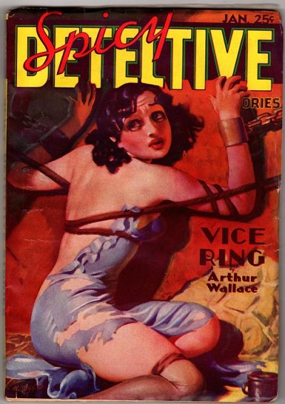 Spicy Detective Jan 1936; H.J. Ward; E. Hoffman Price; Arthur Wallace