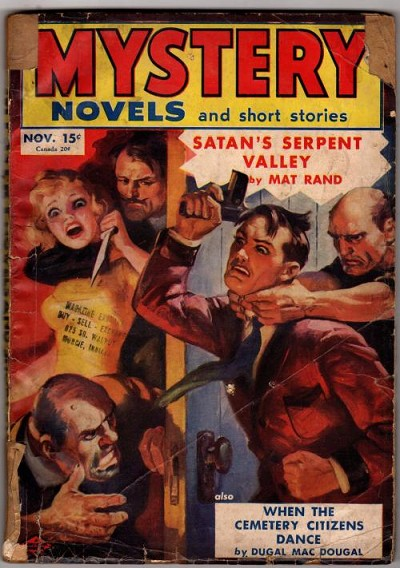 Mystery Novels and Short Stories Nov 1940;William Soare; Mat Rand; Dugal MacDougal