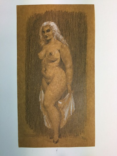 Roy Krenkel - Nude (circa early 1950's)