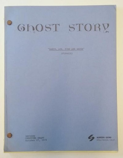 "GHOST STORY ""Earth, Air, Fire and Water"" (Teleplay) Harlan Ellison Signed"
