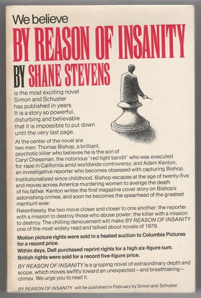 By Reason of Insanity by Shane Stevens (First Printing)  ARC