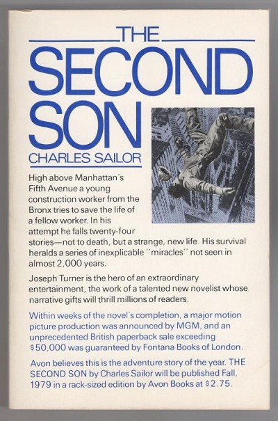 The Second Son by Charles Sailor (First Printing) ARC