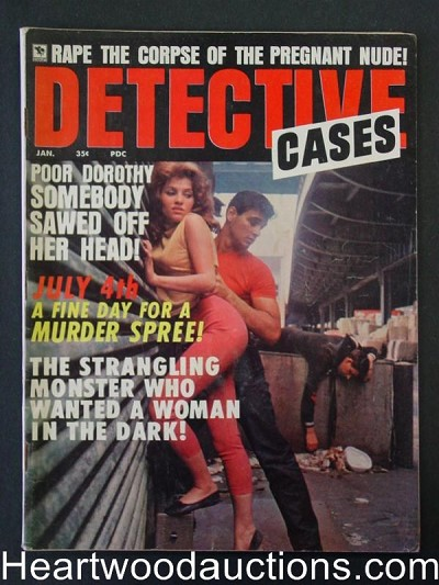 """Detective Cases"" Jan 1968 Juvenile Delinquent cover"