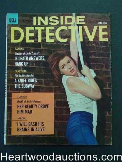 """Inside Detective"" January 1966 Female Escape Cover"