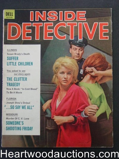"""Inside Detective"" May 1966 Women Under Arrest Cover"