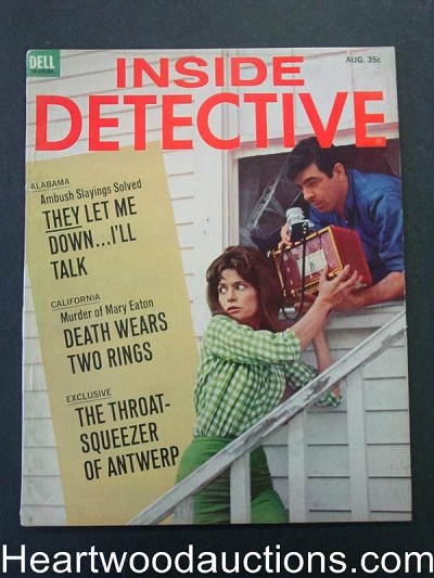 """Inside Detective"" August 1965 Female Thief Cover"