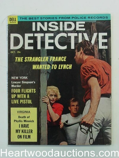 """Inside Detective"" October 1964 Attack Cover"