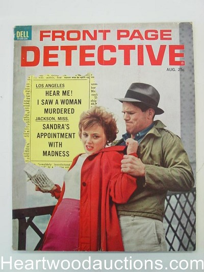 """Front Page Detective"" August 1962 Assault Cover"