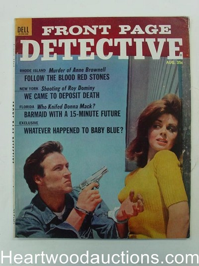 """Front Page Detective"" August 1965 Prison Break Cover"