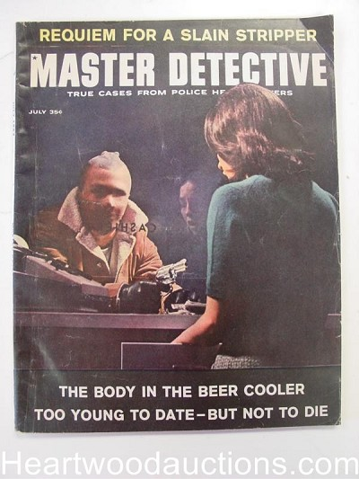 """Master Detective"" July 1963 Robbery Cover"