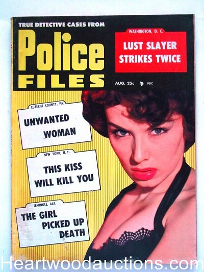 """Police Files"" August 1958"