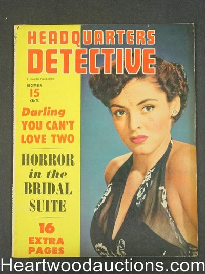 """Headquarters Detective"" December 1952"
